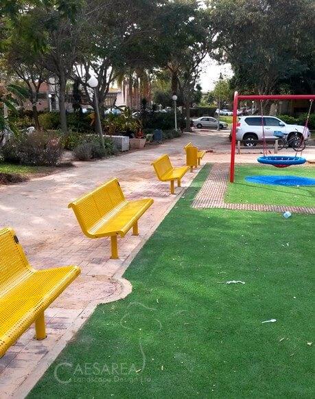 ספסל מעוצב – להצבה באזורים ציבוריים