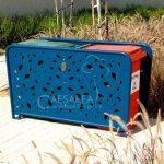 מסתור אשפה – אומגה – עלים 360L