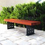 ספסל עץ ומתכת קסטל 702