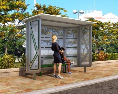 תחנות אוטובוס מעוצבות