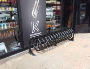מתקן אופניים ספירלה