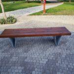 ספסל עץ ומתכת קסטל 707