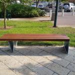 ספסל עץ ומתכת קסטל 713