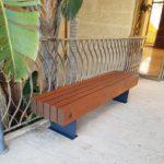 ספסל עץ ומתכת קסטל 710